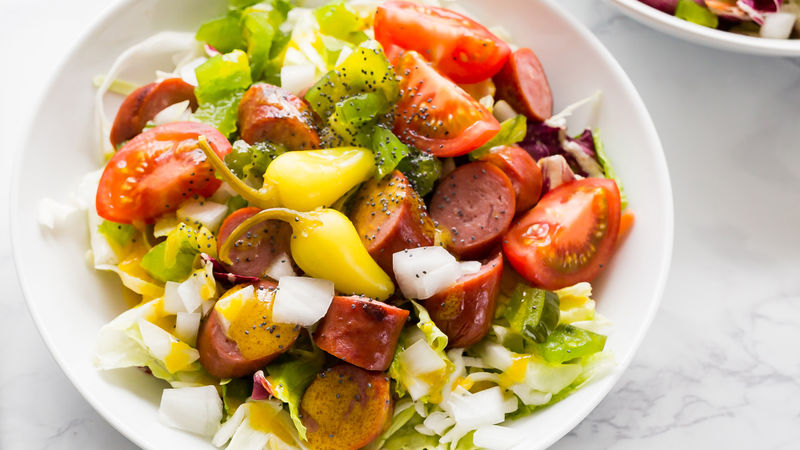 Chicago-Style Hot Dog Salad