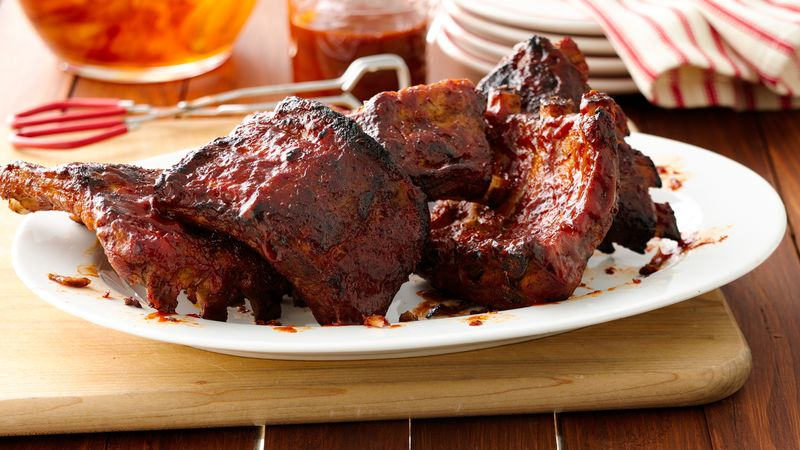 slow cooker barbecue ribs recipe pillsbury com
