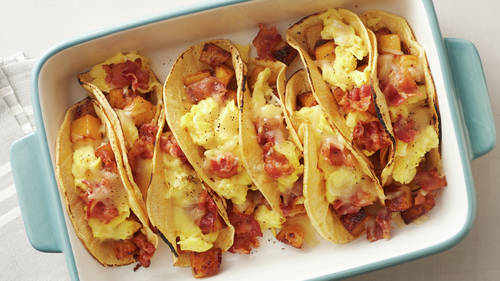 Oven Baked Breakfast Tacos Recipe Pillsbury Com