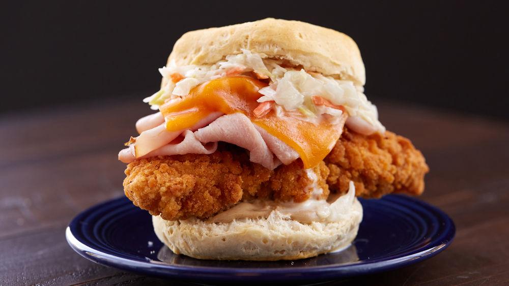 Fried Chicken Biscuit Sandwiches