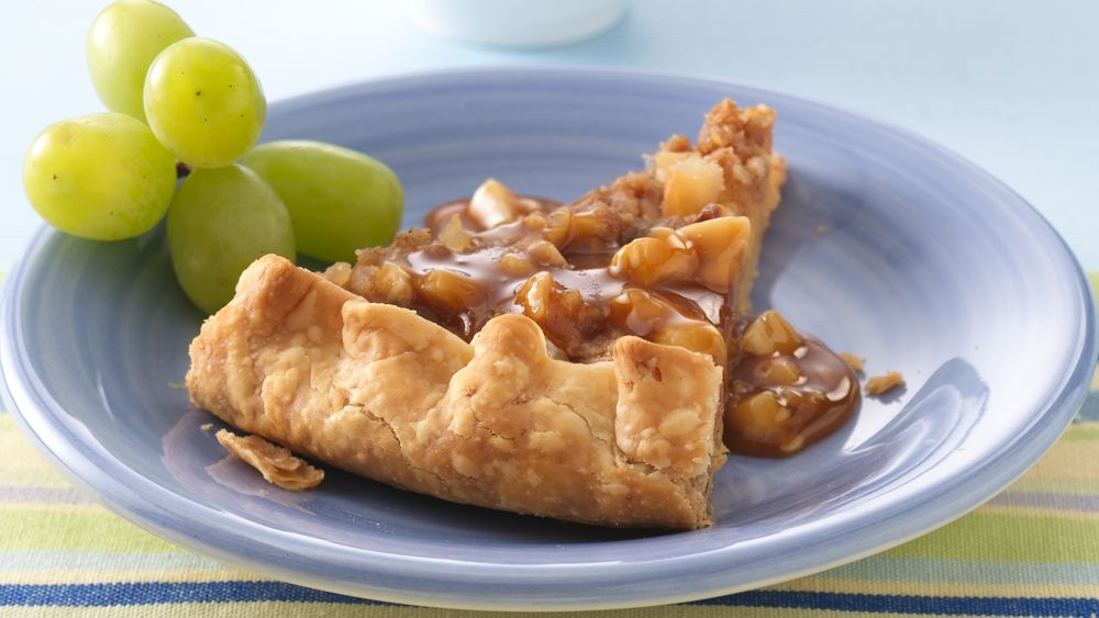 Pineapple Galette with Caramel-Rum Sauce