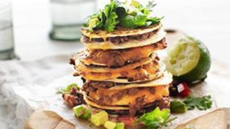 Spicy Beef and Bean Mini Quesadillas