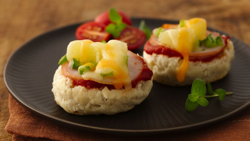 Hawaiian Pizza Biscuit Appetizers