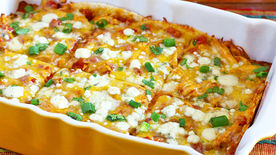 Buffalo Chicken Enchilada Casserole