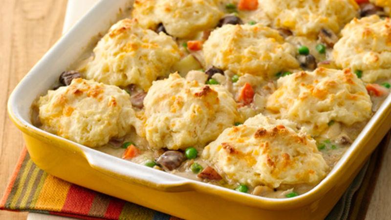Chicken And Biscuits Pot Pie