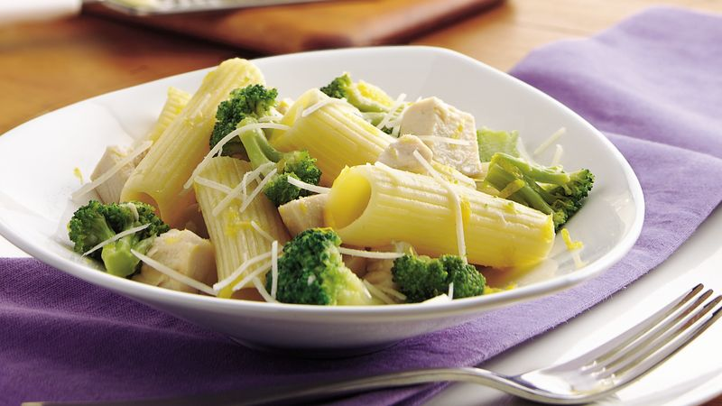 Lemon-Chicken Rigatoni with Broccoli