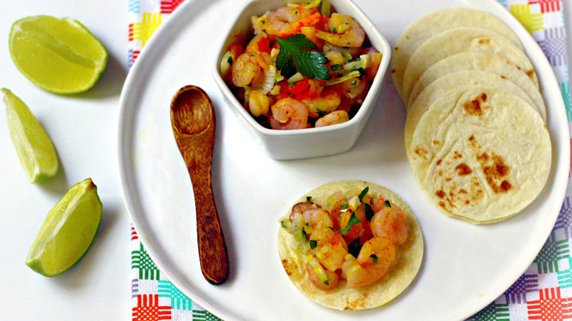 Garlic Shrimp Tacos