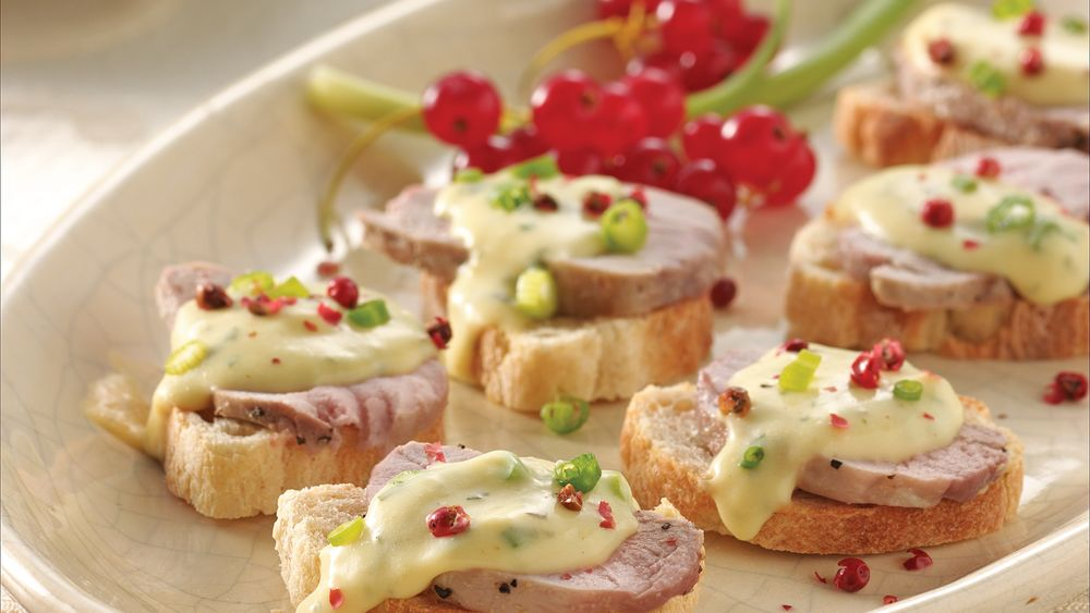 Pork Tenderloin Crostini