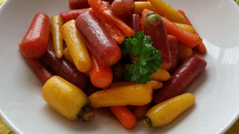 Buttered Tricolor Carrots