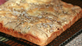 Multi-Grain Focaccia with Herbs and Garlic