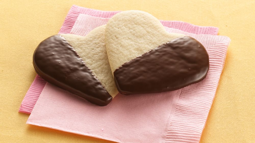 Chocolate-Dipped Heart Cookies