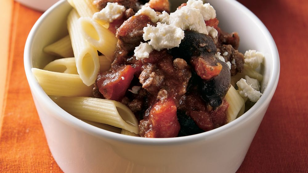 Greek-Style Beef and Pasta