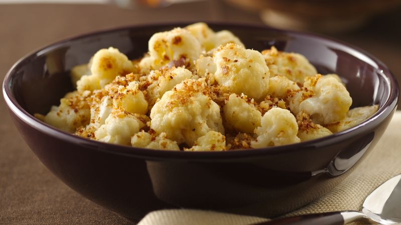 Sautéed Cauliflower with Browned Bread Crumbs