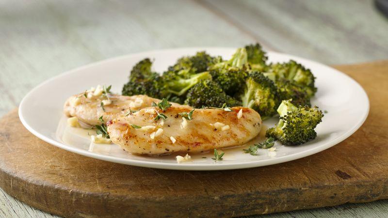 Skinny Lemon Garlic Chicken with Broccoli