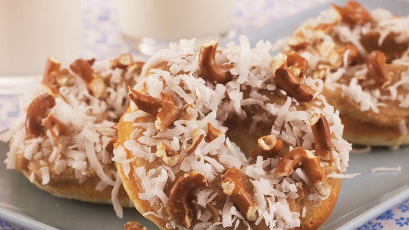 Caramel Pretzel Doughnuts