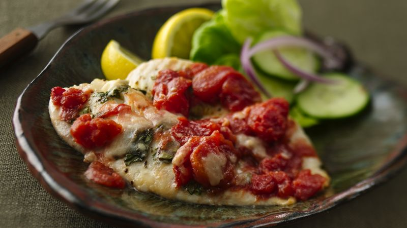 Tilapia Tomato Basil Fillets Recipe Bettycrocker Com