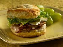 Turkey Brie Biscuit Sandwiches