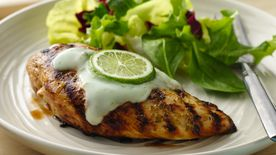 Grilled Margarita Chicken with Yogurt Sauce
