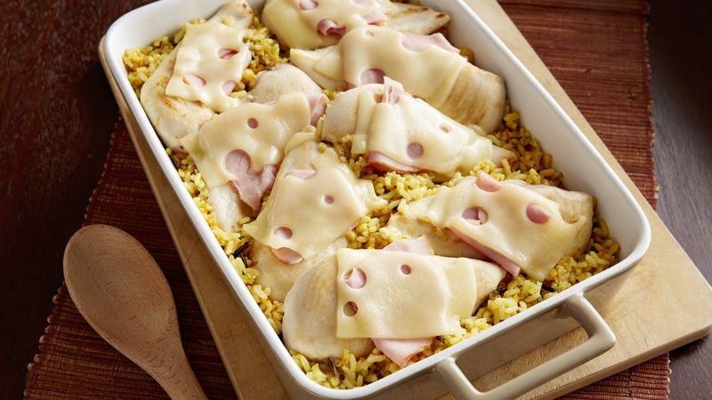 Chicken Cordon Bleu and Rice Casserole