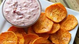 Olive Oil Sweet Potato Chips with Smoked Sea Salt