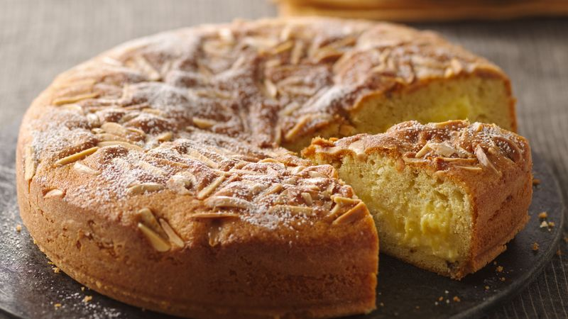 Lemon Curd Filled Butter Cake
