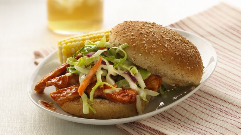Barbecued Pork Sandwiches with Slaw