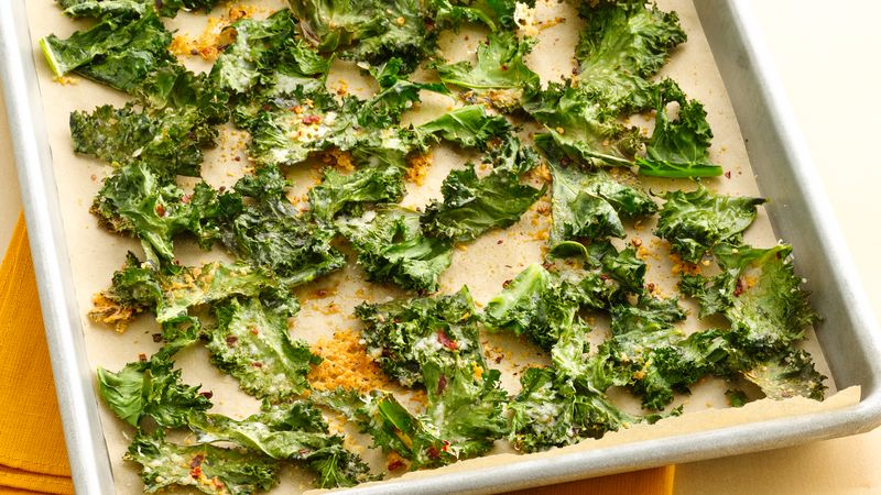 Gluten-Free Kale Chips with Parmesan