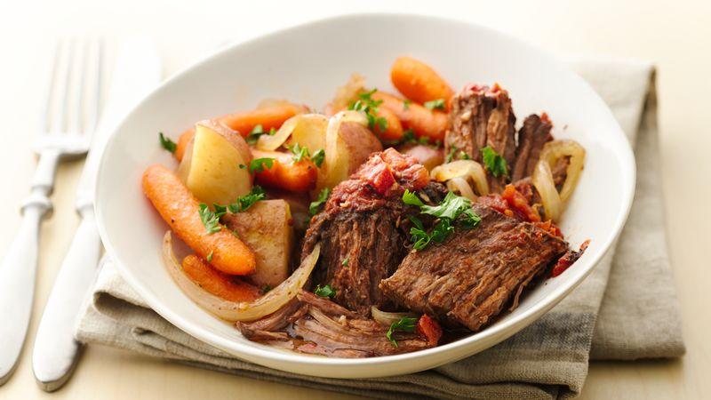 Easy Slow-Cooker Fire Roasted Pot Roast