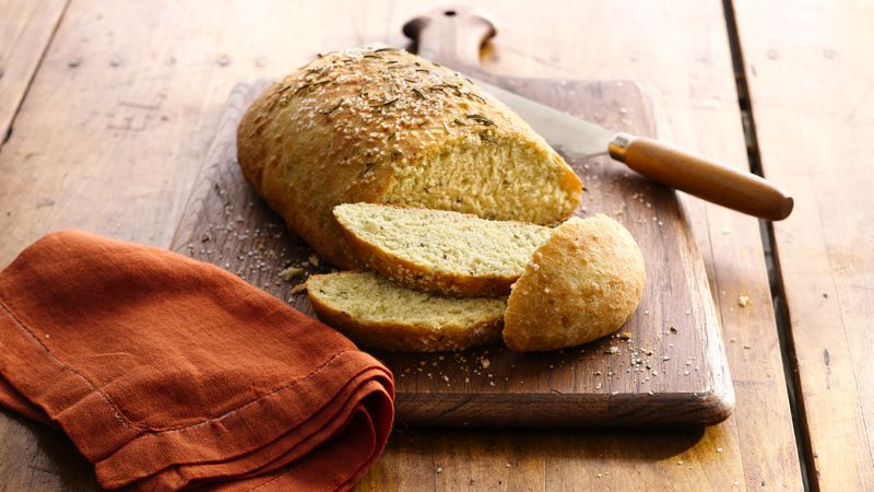 Artisan Semolina and Rosemary Bread