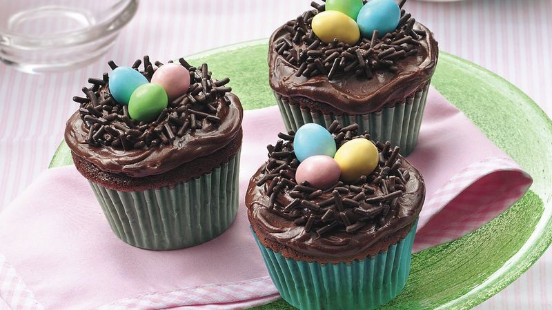 Easter Bird's Nest Cupcakes