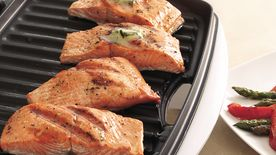 Grilled Salmon with Veggies
