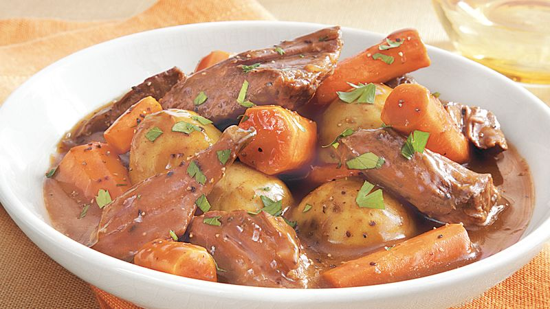 Slow-Cooker Easy Pot Roast Recipe - BettyCrocker.com