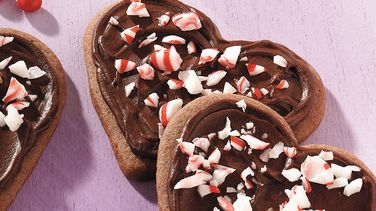 Peppermint Cookie Hearts