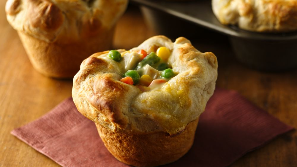 Grands 174 Mini Chicken Pot Pies Recipe Pillsbury Com