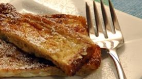 French Toast Sticks with Honey and Nutmeg