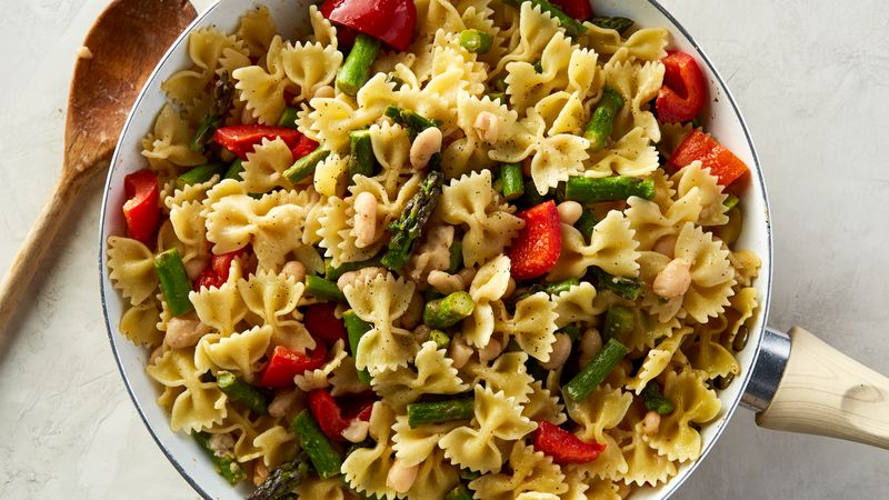 Lemon Pepper Pasta and Asparagus