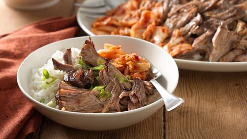 Asian dinner recipes bettycrocker slow cooker korean barbecue pork shoulder forumfinder Gallery