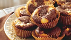 Chocolate Chip Cheesecake Swirl Cupcakes