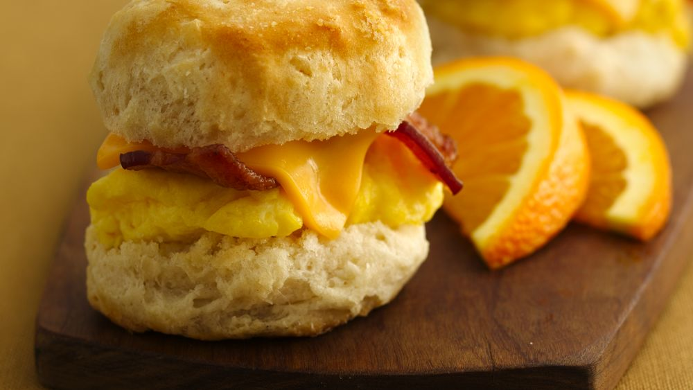 Mini Biscuit Breakfast Sandwiches