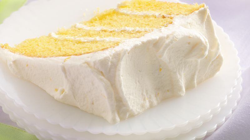 Lemon Velvet Cream Cake Recipe
