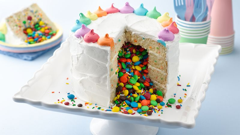 Rainbow Surprise Inside Cake Recipe BettyCrockercom
