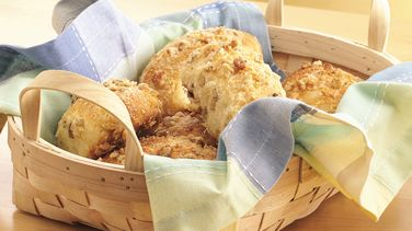 Cheese-Filled Parmesan Biscuit Loaves