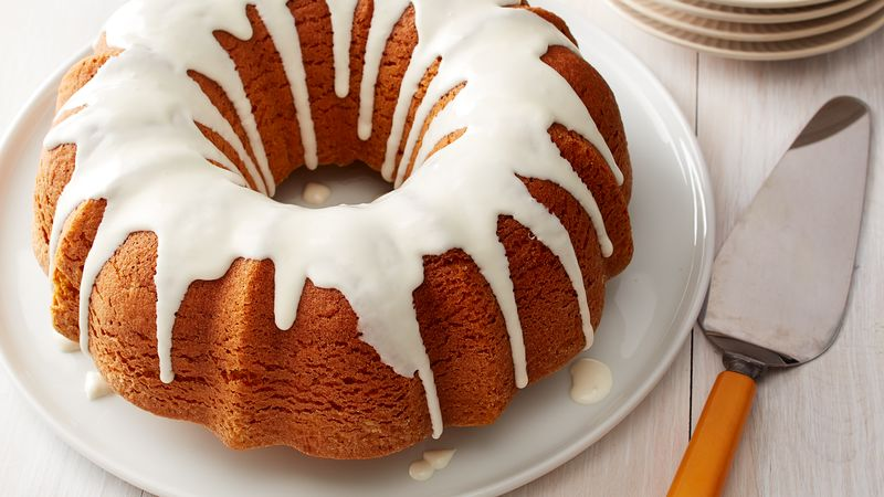 Pumpkin Bundt Cake with Cream Cheese Glaze
