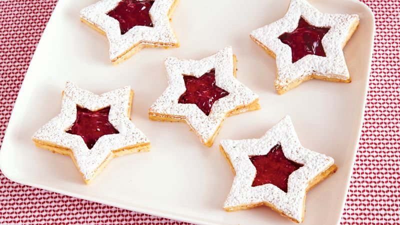 Christmas Cookie Recipes.Linzer Star Christmas Cookies