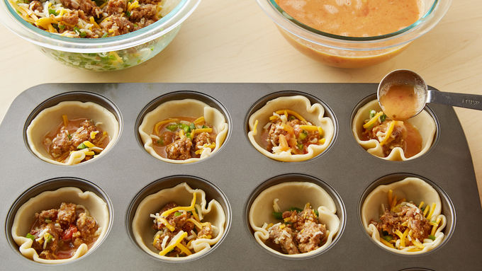 Spicy mexican quiche cups recipe for 1 4 cup table spoon