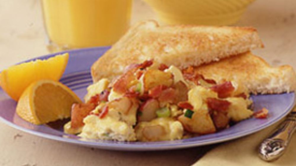 Potato, Bacon and Egg Scramble