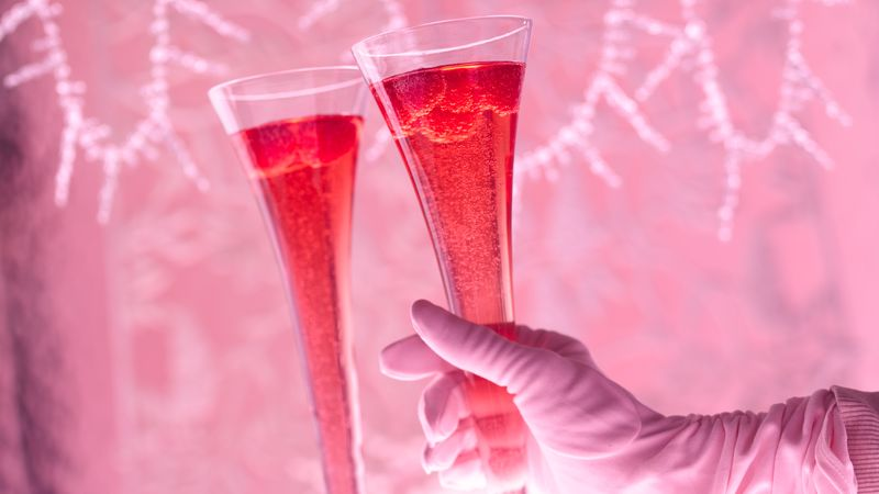 Gluten Free Hibiscus Royale Champagne Cocktail Recipe