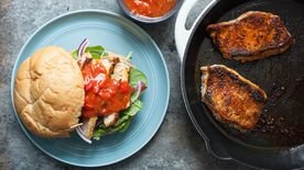 Blackened Pork Chop Sandwiches