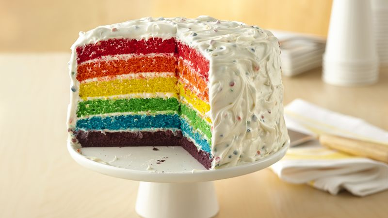Rainbow Marble Layer Cake