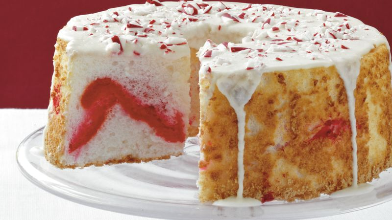 Candy Cane Angel Cake
